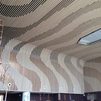 型材木纹铝方通-弧形铝方通-木纹厂定制