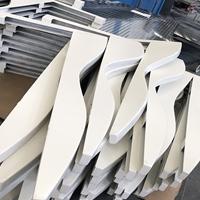 白色氟碳弧形铝方通 木纹波浪铝单板定制