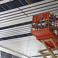 利川高铁站吊顶白色U型铝方通 铝条板定制