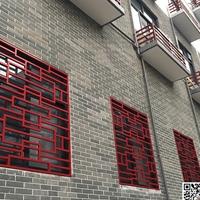 广州外国语学校仿古铝窗花