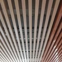 防火,阻燃铝方通吊顶 木纹热转印铝方通吊顶
