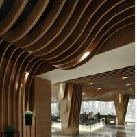 郑州幕墙弧形铝方通吊顶木纹定制厂家