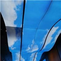 蓝天白云室内装饰3D彩绘铝单板吊顶
