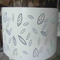 藝術雕刻包柱鋁單板-沖孔透光包柱鋁單板
