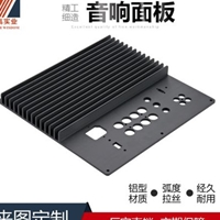 智高加工鋁制品定做音響面板鋁合金散熱面板