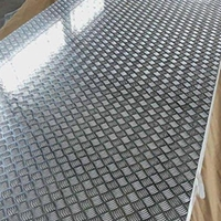供應5052花紋鋁板五條筋防滑鋁板
