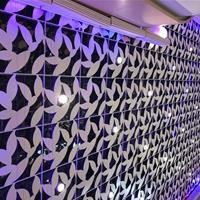 外墻鋁單板門頭裝飾 雕花沖孔木紋鋁單板