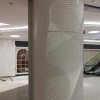 生港建材包柱沖孔鋁單板沖孔藝術包柱鋁單