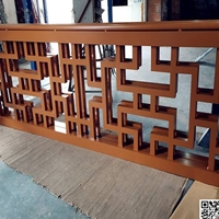 浙江中学围栏装饰铝花格 铝合金花格定制