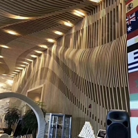 商场幕墙弧形铝方通_外墙装饰波造型铝单板