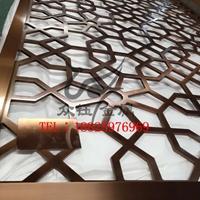 酒店拉丝古铜铝板雕刻艺术镂空屏风定制