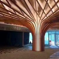 波浪造型木纹铝方通_弧形木纹铝方通吊顶