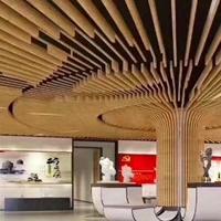 碧桂园校区装饰造型铝方通_弧形铝方通吊顶