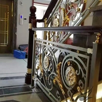 别墅室内铜楼梯护栏  专业定制