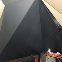 门头造型铝板 烤漆雨棚铝单板