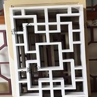 鋁合金格柵窗中式木紋鋁窗欞花格定制廠家