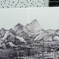 河北石家莊背景墻彩繪鋁單板