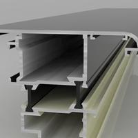 斷橋鋁合金門窗鋁型材沖切加工