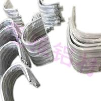 開模定做多規格異形鋁型材滾彎折彎加工