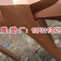 不锈钢仿铜几何鹿雕塑厂家-鸿景鹿雕塑加工