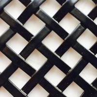 硕隆黑色铁丝轧花装饰网 菱形编织网