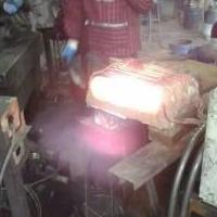轴类锻压前加热电炉