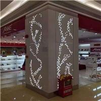 长沙包柱铝单板-镂空雕刻-与灯光相互结合