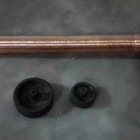 导电杆熔丝筒喷砂机 提高附着力设备