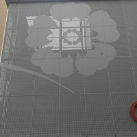 银行墙面大小花孔灰色铝单板生产订单