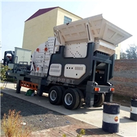 移动破碎站处理建筑垃圾再生环保砖
