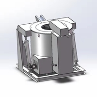 600KG鋁合金燃氣可傾爐 工業爐