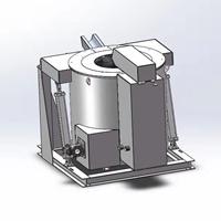 600KG铝合金燃气可倾炉 工业炉