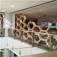 建材定制中式铝窗花-木纹铝艺花格
