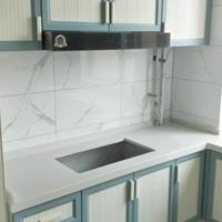 全铝橱柜门板型材 衣柜门板暖白水曲柳