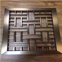 设计复古四方管-焊接外墙木纹铝窗花铝花格