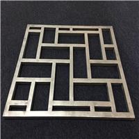 南海厂家铝合金花格-木纹色铝花窗价格优势