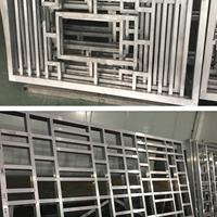 建材装饰中式风格木纹铝窗花厂家直营