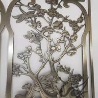 售楼部纯铜浮雕镂空格栅屏风生产厂家