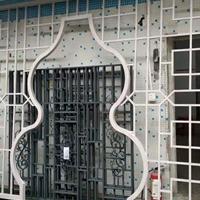 木纹铝窗花订做 油漆铝窗花建材