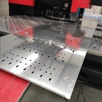 超长铝板冲孔加工圆孔腰圆孔定制