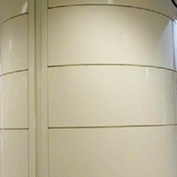 2.0包柱弧形铝单板 喷涂设计颜色铝单板
