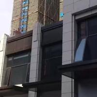 办公楼门头飘蓬铝单板设计定做