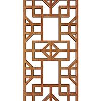 河南新乡中式铝窗花木纹铝花格复古型材定制铝花格护栏