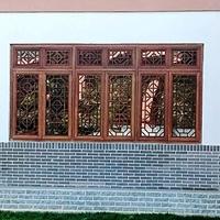 浙江湖州门楣铝窗花花格窗定制铝窗花图片设计