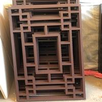 贵州遵义中式铝窗花木纹铝花格复古型材定制铝花格图片