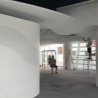 白色渐变孔铝板-门头图案大小孔铝板