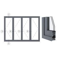 兴发铝材创高AL80A系列隔热折叠门