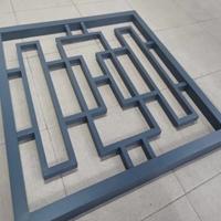 仿古铝花格 木纹铝花格 古典铝花格 厂家定制