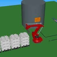 旭丰集中熔化炉5吨加料机2吨投料机