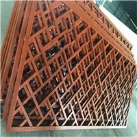 河南宾馆门头定制各种造型木纹铝窗花